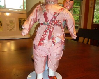 Vintage Chinese Paper Mache' Doll