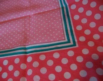 lovely pink polka dot scarf
