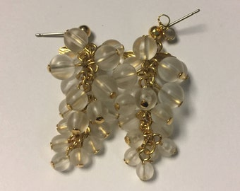 White Grape Vintage Earrings