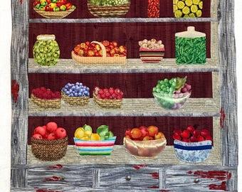 Fruit n Veggie Cupboard pattern & fabric kit