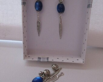 Kit earrings pearls and # 11 charms