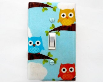 Owl Light Switch Cover - Woodland Nursery Decor - Owl Switch Plate Cover