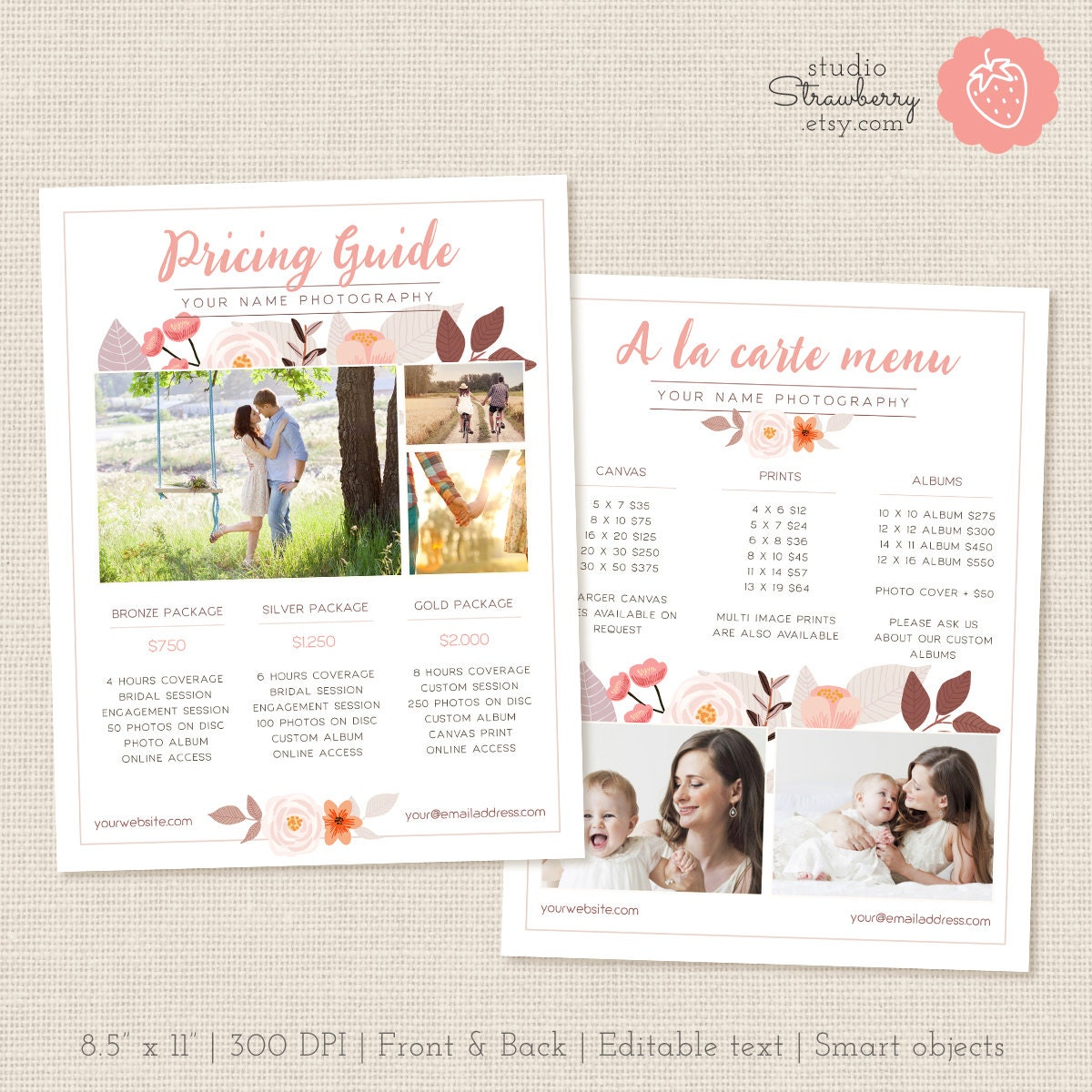 Photographers price list template floral photography pricing zoom pronofoot35fo Gallery