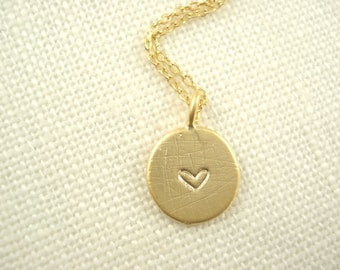 Initial Necklace...Hand stamped Gold personalized jewelry for bridesmaid gift, flower girl, simple everyday, bridal jewelry, bridesmaid gift