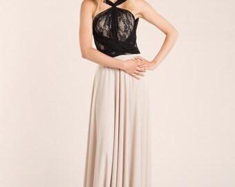 Beige lace maxi dress, vintage style party dress, custom lace dresses, lace dresses, feminine dress, elegant party dresses, romantic gown