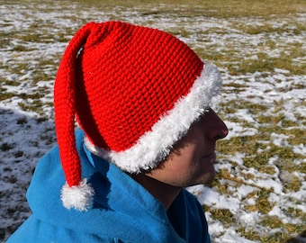 Adult Santa Hat//crochet//Teenager//women//men