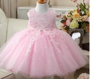 Floral lace design dress