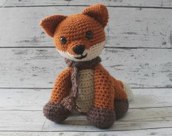 Rusty the Fox, Crochet Fox Stuffed Animal, Fox Amigurumi, Plush Animal, Made to Order