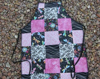 Pink and Black Patchwork Apron