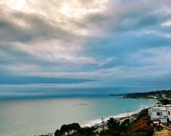 A Blanket of Sea and Sky - Fine Art Landscape Photograph, Beach Photography, Travel Photography