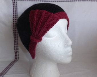 Cloche Hat - Knitted Cloche Hat - Handmade Cloche Hat with Fan Detailing