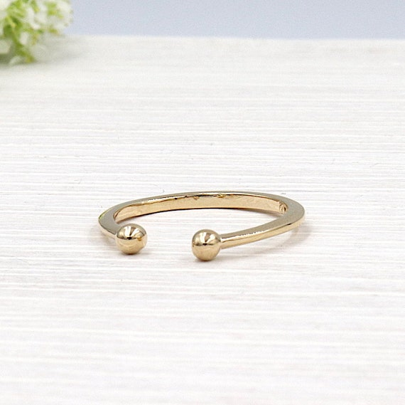ring is plated gold balls