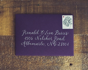 RSVP Envelope - Traditional Draft Style (Envelopes & Postage Included)