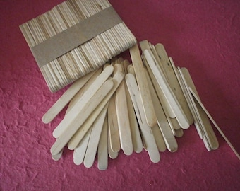 x 1 set of 50 sticks made of wood