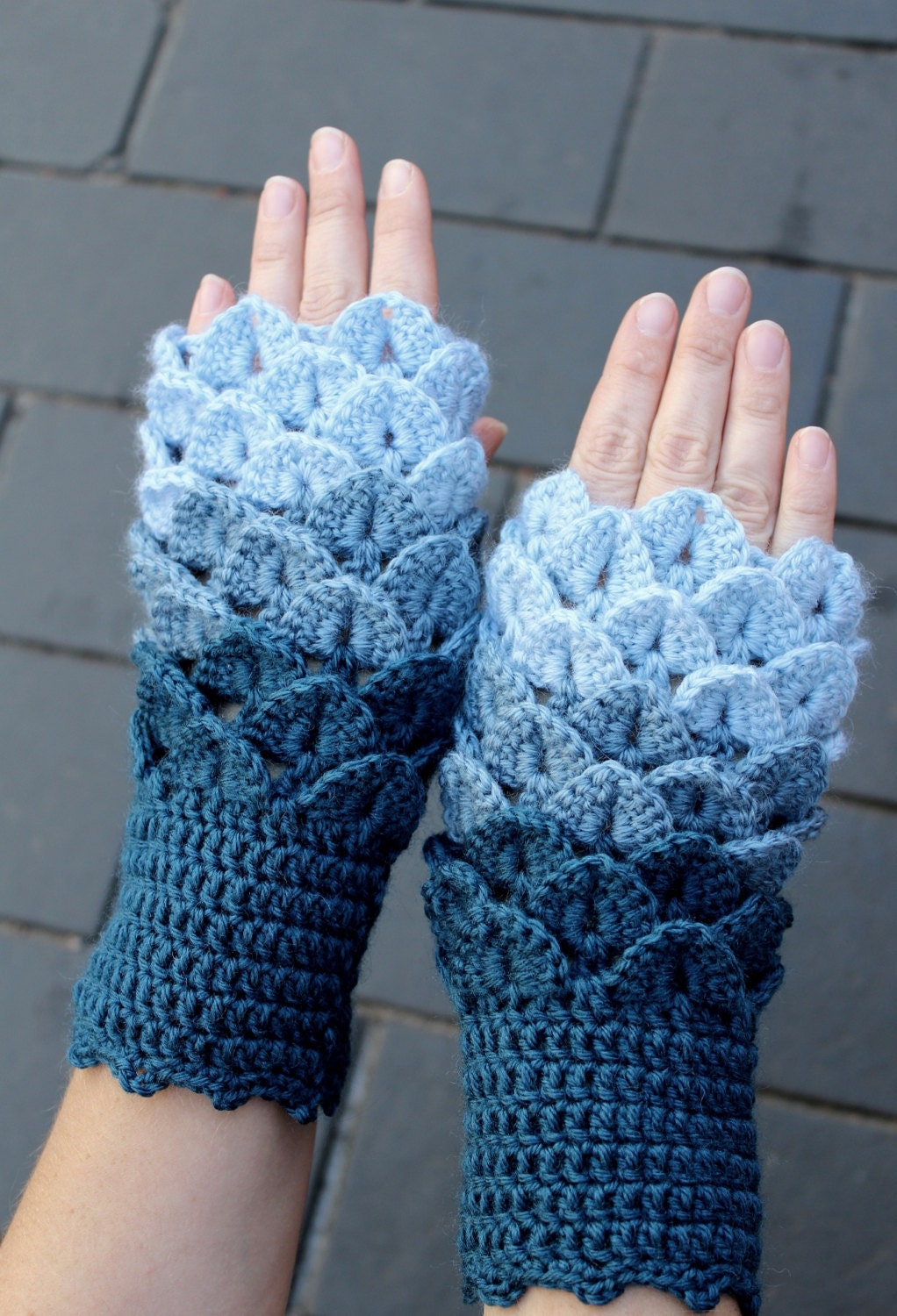Hand Crocheted Fingerless Gloves Gloves & Mittens Winter