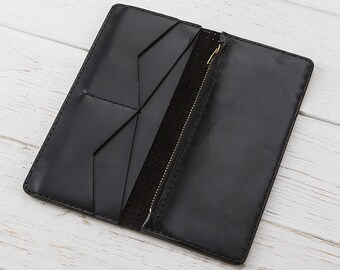 Zipper Wallet, Womens Wallet, Womens Leather Wallet, Long Wallet, Zipper Leather Wallet, Card Wallet, Wallet For Her, Leather Clutch, Wallet