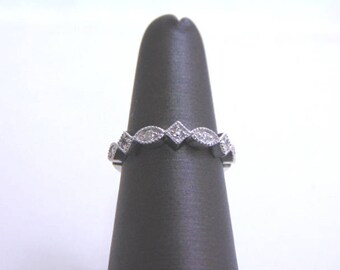 Women's 14K White Gold Diamond Ring 2.9g E1244