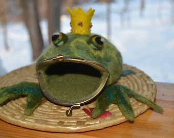 Frog, purse for jewelry