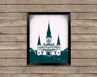 St. Louis Cathedral in Jackson Square, NOLA - New Orleans - French Quarter - photography print