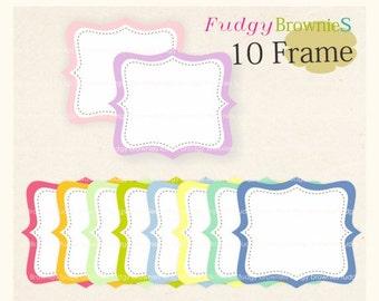 ON SALE Digital Frame, Circle Frames Clip Art, White Background Frame, digital scrapbooking frames.A-08 ,  Instant download