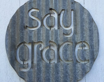 Say Grace - Sign