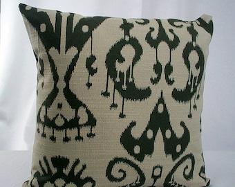 Dark green pillow, Olive green pillow, Moss green pillow, Dark green cushion, Green Throw Pillow, Green Pillow, Green Pillows sofa couch bed
