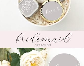 Grey Bridesmaid Proposal Gift Box Gray Bridesmaid Gift Box Grey Bridesmaid Box Grey Gift Box (EB3250PT) COLORED Bridesmaid GIFT SET