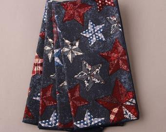 Americana Stars Napkins, Patriotic Napkins, Set of 4 Cloth Napkins, Country Napkins