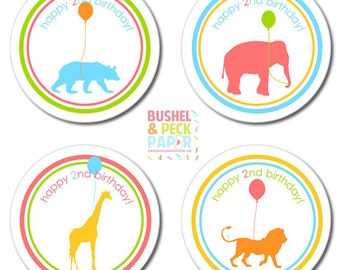 Animal Parade #Party #Stickers