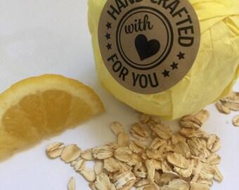 Lemon & Oatmeal Bath Bomb