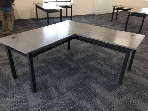 l shaped desk industrial desk computer desk home office. Black Bedroom Furniture Sets. Home Design Ideas