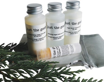 vegan skin care set - choose your samples - gift ready - tester trial size - all skin types