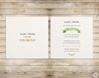 Botanical - wedding invitation - wedding invitation collection
