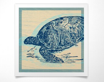 Sea Turtle Print- Sea Life Prints- Ocean Decor- Ocean Wall Art- Ocean Print- Ocean Nursery Decor- Beach House Decor- Sea Turtle Wall Decor