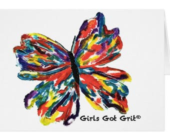 butterfly. greeting card. Girls Got Grit®