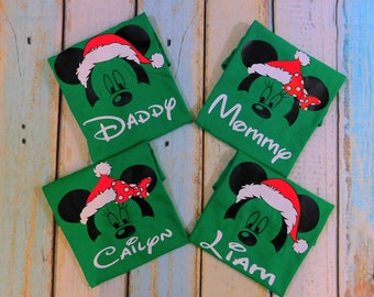 Mickey Christmas, Minnie Christmas, Disney Christmas shirts, Disney family shirts, Christmas shirts, Family matching shirts,Disney christmas