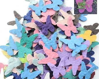 200 Plantable Seed Paper Butterflies - diy wedding favors, place cards, save the date cards, creative invitations