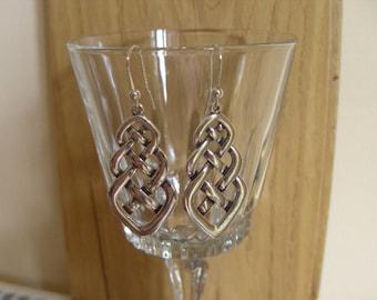 Earings,Drop Earings,Dangle earings,Celtic,Hand made,Sterling silver,Gift,