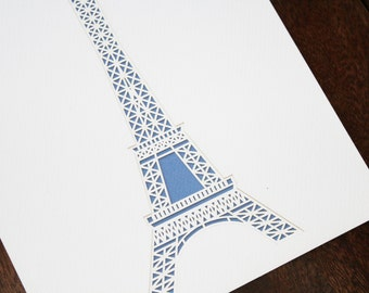 Simple Eiffel Tower Layered Lasercut
