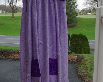 Upcycled Purple Flowing Sundress, size 10 / 12 / 14