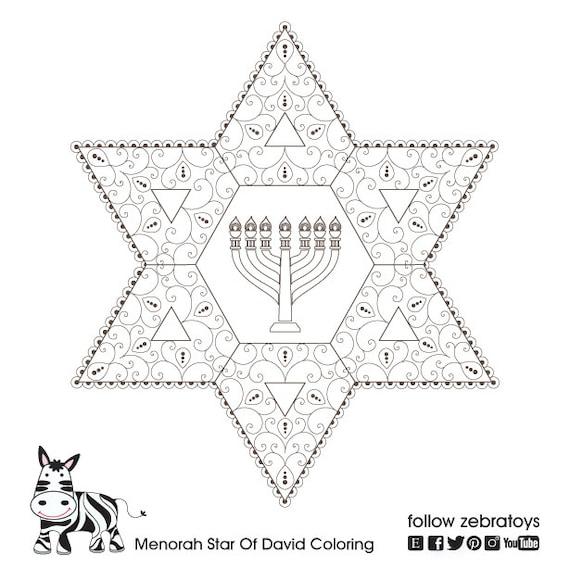 Menorah Printable-Star of David-Healing Jewish Sou