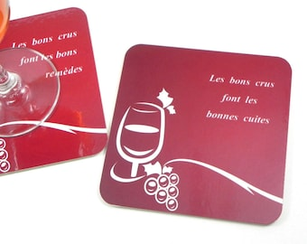Funny underneath glass coaster wine quote coaster good wines make baked good
