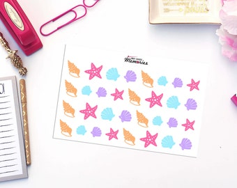 SEA SHELLS Paper Planner Stickers!