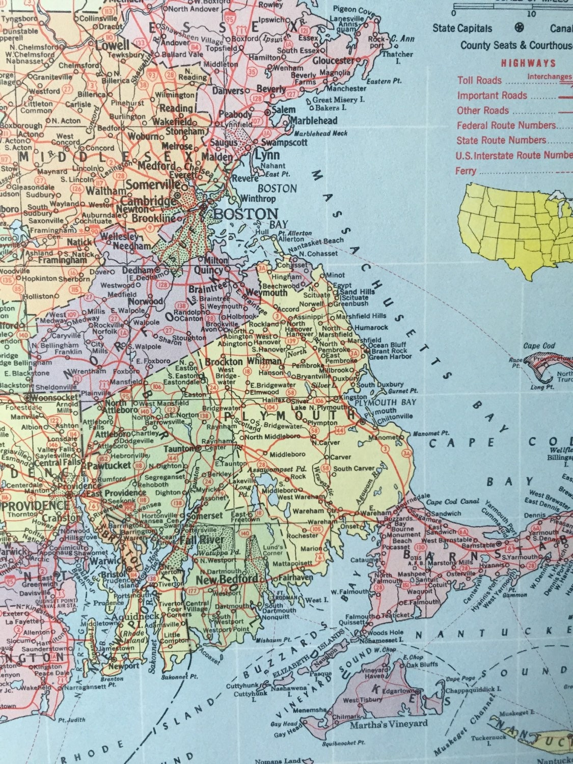Vintage 1965 hammonds world atlas map page michigan on one side sold by greenbasics gumiabroncs Gallery