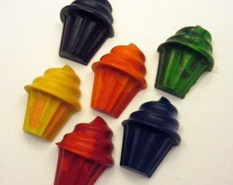 Set of 6 Cupcake Crayons