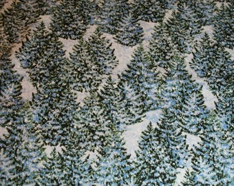 Wilmington Prints Winter's Eve Dark Blue Trees All Over Quilt Cotton Fabric 100% cotton fabric BTY