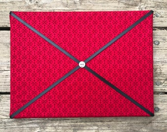 Red Fabric Board w/ Black Ribbon (SC)