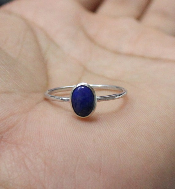 925 Solid Sterling Silver   Natural Lapis Lazuli Ring   Ring Jewelry Handmade   Promise Ring   Lapis Silver Ring    All Size Us 3 To 13 by Etsy