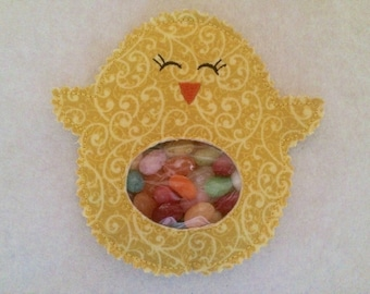 "Easter basket candy holder ""Cute Chick"""