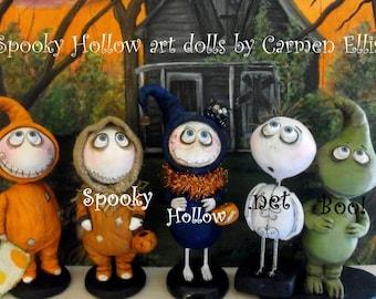 Poupée d'art Clay Halloween Grimmy personnalisée